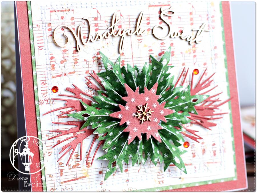 Kartka na Boże Narodzenie z rozetką