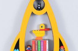 Półka na książki RAKIETA | żółty