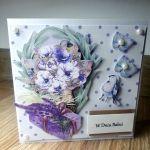 Kartka na Dzień Babci #4 lawenda  - 3