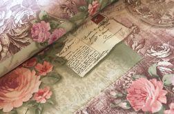 Tkanina bawełna-wzór retro róże