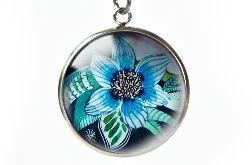 Blue flower naszyjnik z ilustracją