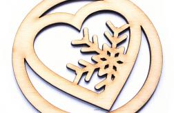 Bombka na choinkę DUŻA drewniana serce