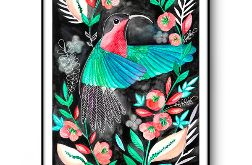 Koliber wydruk ilustracji