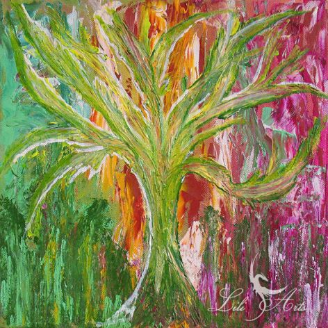 Obraz energetyzujący - Drzewo - akrylowy - akryl na płótnie