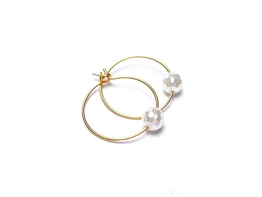 Alloys Collection /one pearl/ white vol.2 - kolczyki