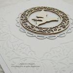 Białe zaproszenia z tłoczeniem na Chrzest 5 - Białe zaproszenia z tłoczeniem na Chrzest 5