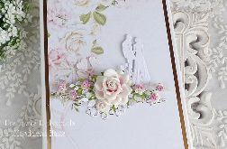 Ślubna kartka-pudełko na książkę 321