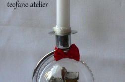 Świecznik z bombką (złoty)