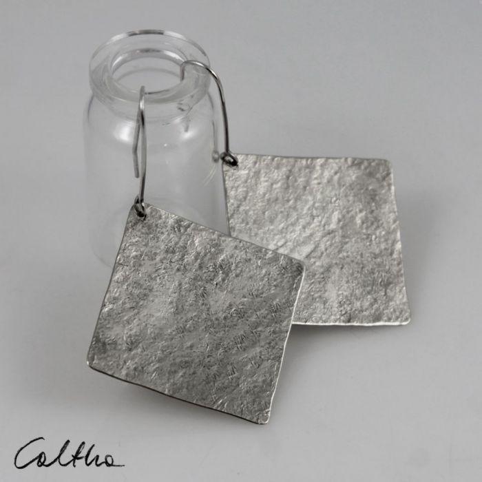 Kwadraty - srebrne kolczyki 191117-03