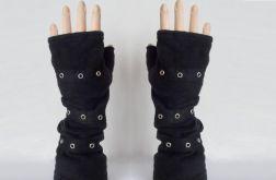 Rękawiczki mitenki czarne