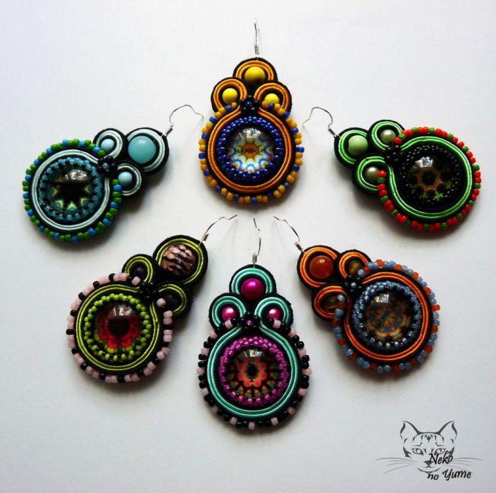 Verano - kolorowe kolczyki sutasz z żywicą