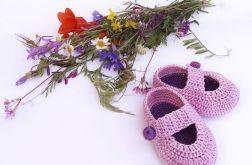 Buciki fioletowo-lila