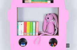 Półka na książki AUTOBUS | różowy