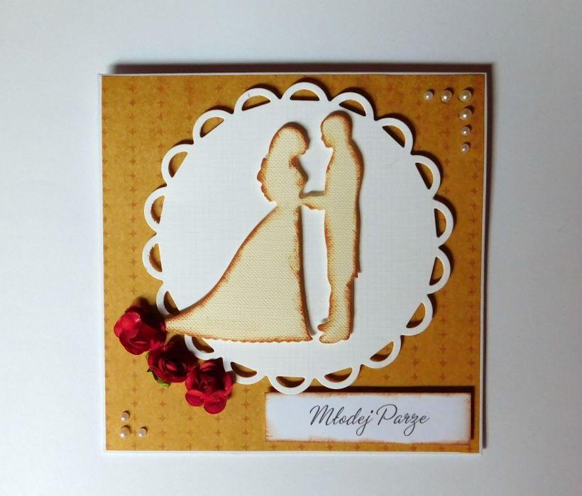 Kartka ślubna para 2