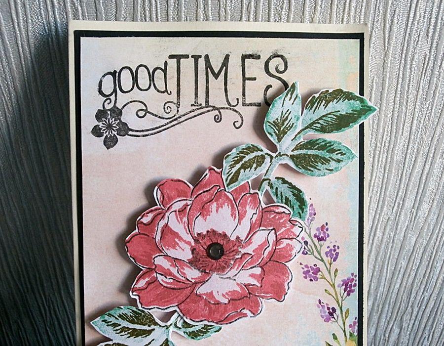 Kartka z kwiatem