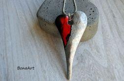 Serce - wisiorek ręcznie malowany