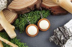 Albera 4- drewniane kolczyki na jesień