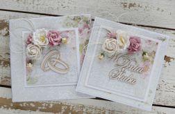 Kwiatowa kartka ślubna z pudełkiem A6