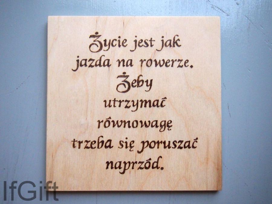obrazek Życie jest jak jazda na rowerze - Życie jest jak jazda na rowerze.