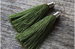 """kolczyki chwosty / kolor """"zielona herbata"""""""