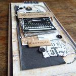 Męska z maszyną do pisania - Detal1