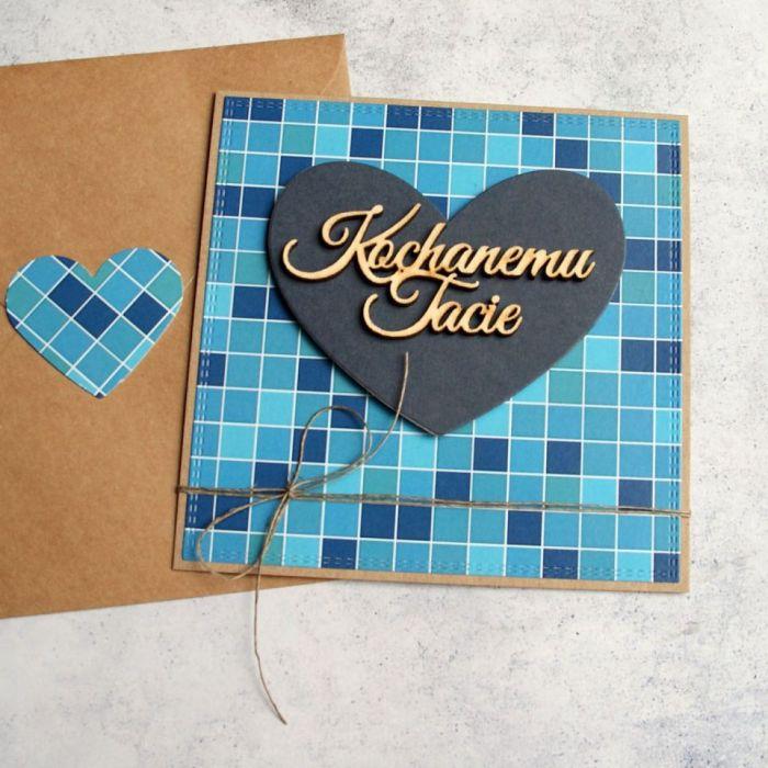 DLA TATY :: KARTKA na dzień ojca :: niebieska