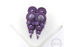 Kolczyki glamour purple soutache