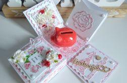 Czerwony, miłość, ślub..exploding box,