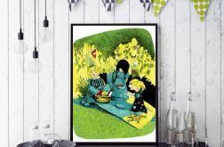Piknik... ilustracja a4