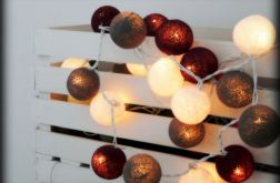 "Cotton balls lights - girlandy ""Dunkler"""