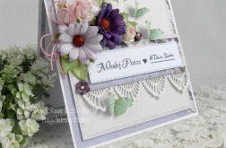 Ślubna kartka w pudełku z okienkiem 31
