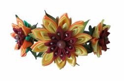 Fascynator słoneczniki kanzashi