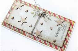 Kartka świąteczna z piernikowymi gwiazdkami