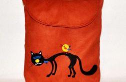 Kolorowa torebka listonoszka z kotkiem