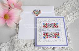 Ślubna kartka w kopercie 15