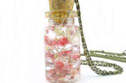 0912-mela/ wisiorek buteleczka z kwiatami