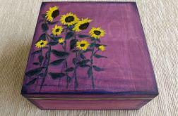 Herbaciarka malowana 4 przegrody-Słoneczniki