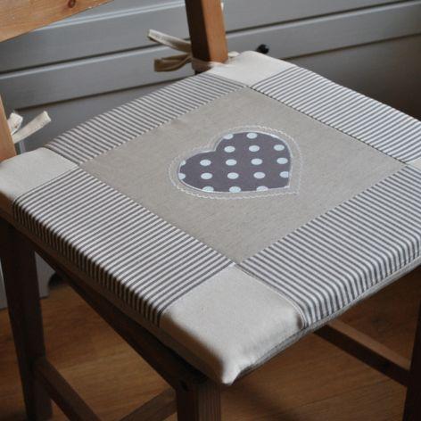 Poduszka na krzesło, siedzisko - zrobione na szaro