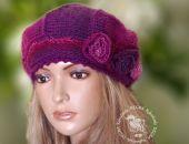 beret/ czapka odcienie różu