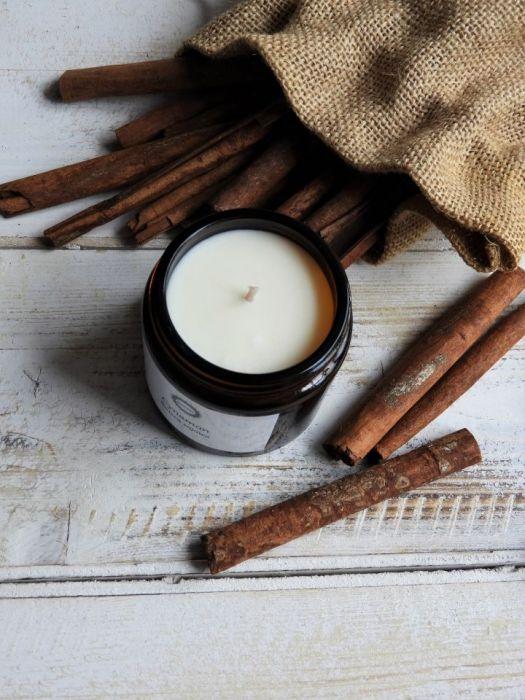 Zapachowa świeca sojowa CYNAMON