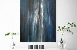 Abstrakcja-obraz akrylowy formatu 50/70 cm