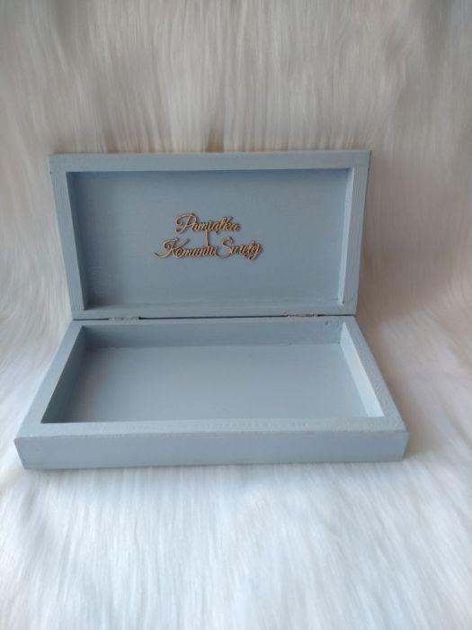 pudełko na banknoty pamiątka I Komunia Św. - wnętrze