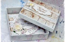 Spersonalizowana kartka ślubna w pudełku