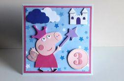 Kartka na Urodziny Świnka Peppa różowa księżn