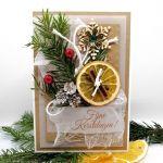 Kartka świąteczna pachnąca z gałązką BNR 020 - Kartka na boże narodzenie pachnąca z gałązką świerku (3)
