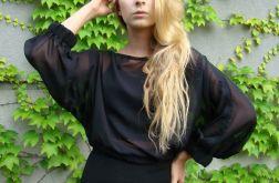 bluzka szyfonowa - czarna mgiełka