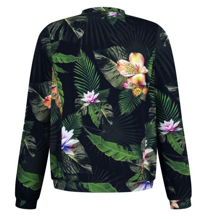 dzianinowa wiosenna bluza damska we wzory - dzianinowa bomberka