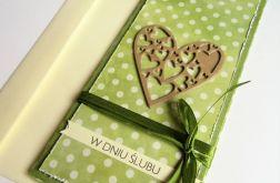Kartka z okazji ślubu-ażurowe serce