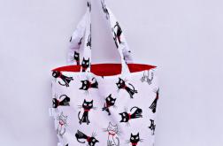 Torba na zakupy Shopperka koty z muszką