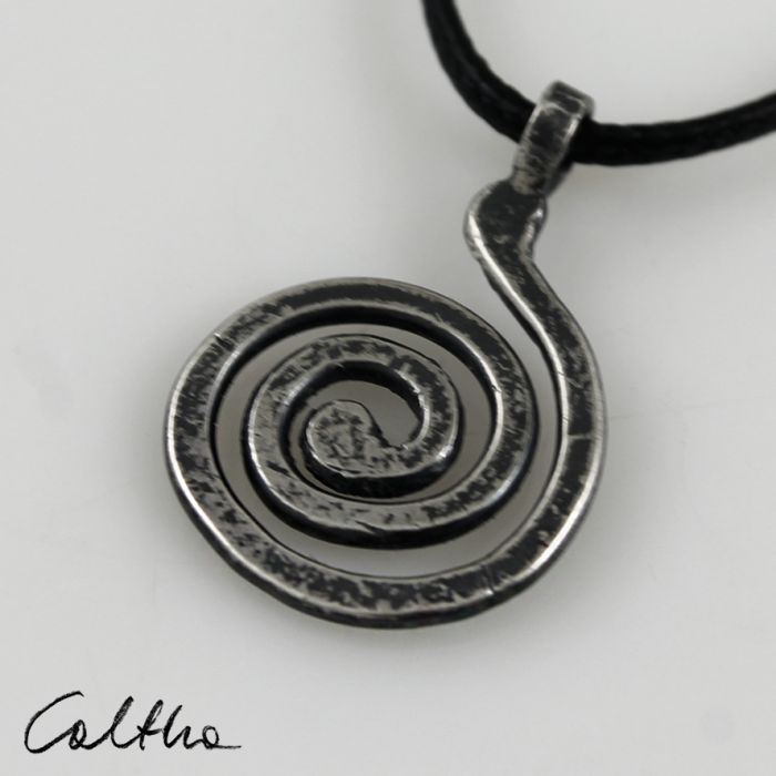 Ślimak - srebrny wisior 180123-02